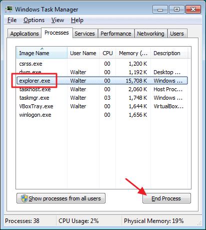 flashdisk secured by kaspersky task manager end process
