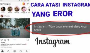 tidak dapat memuat ulang kabar berita di instagram