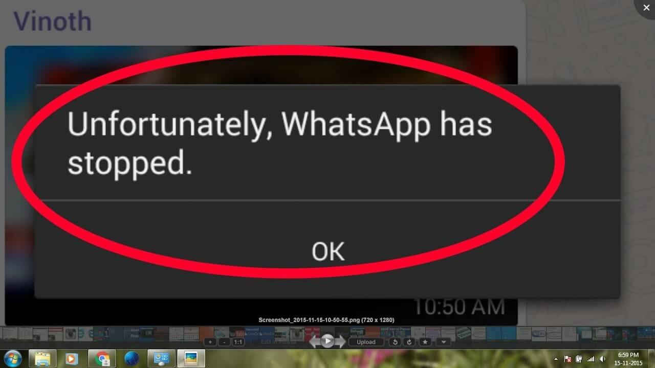 cara mengatasi sayangnya whatsapp telah berhenti