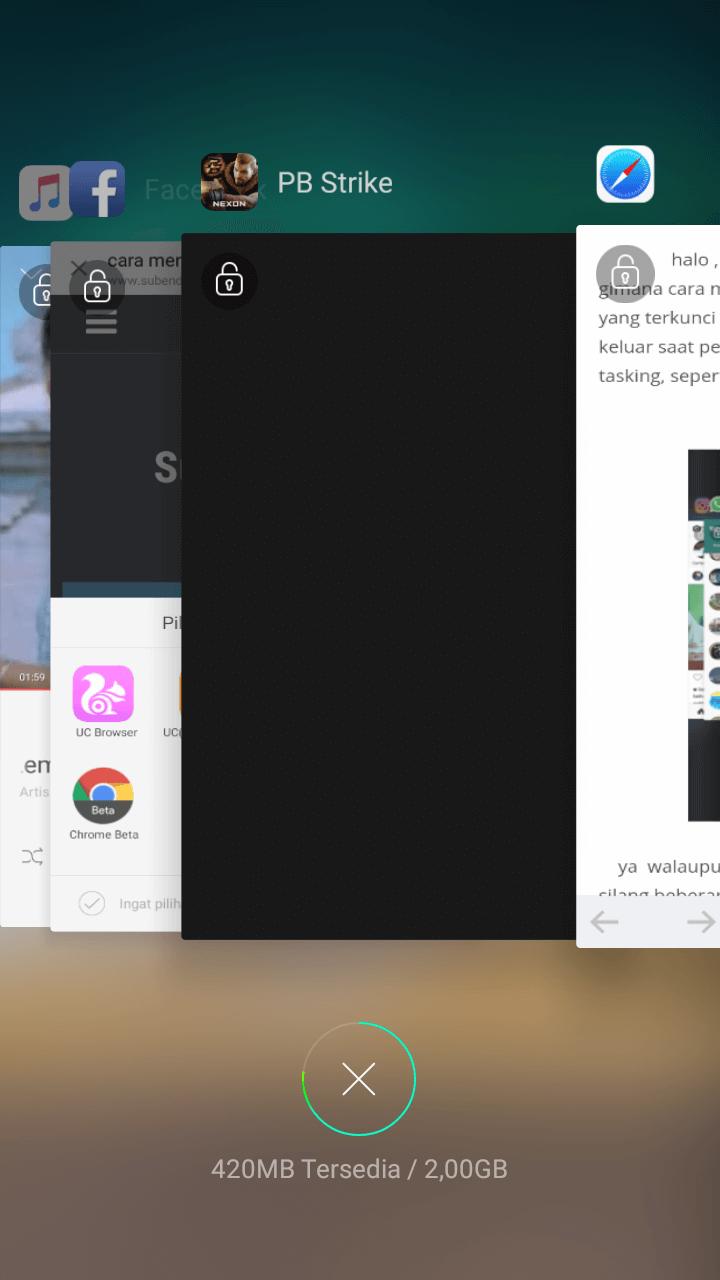 hapus aplikasi latar belakang