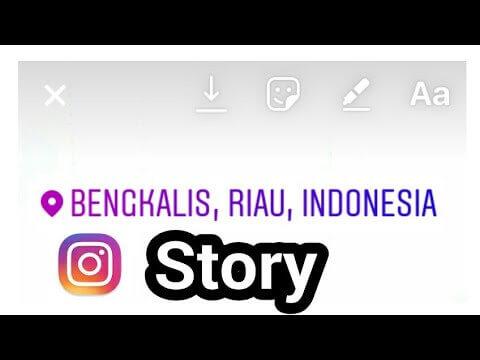 tag lokasi story instagram