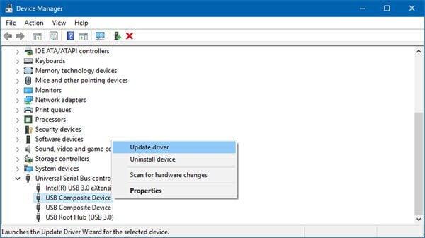 USB driver update