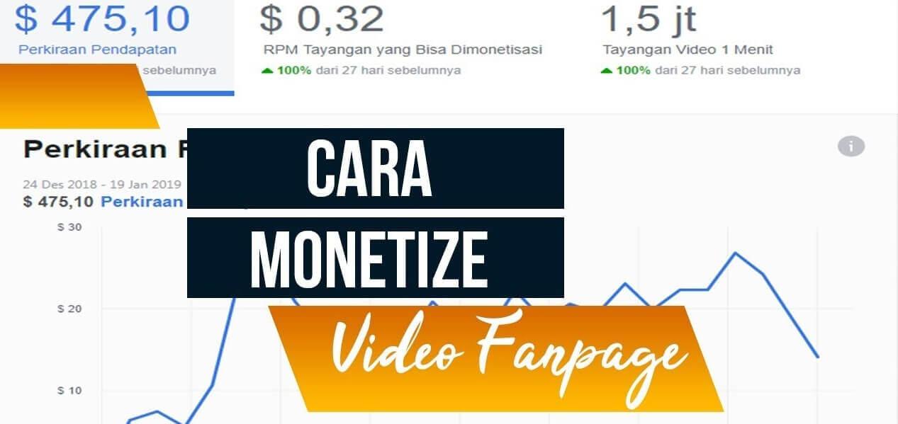 Tips Sukses Monetisasi Fanspage Facebook