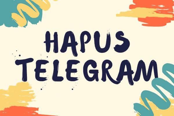 hapus telegram