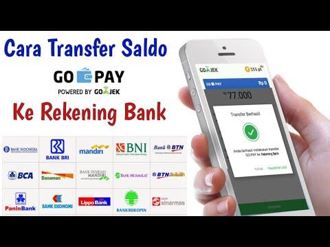 Cara Transfer Gopay Ke Rekening Bank
