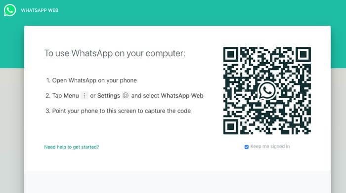 barcode whatsapp web