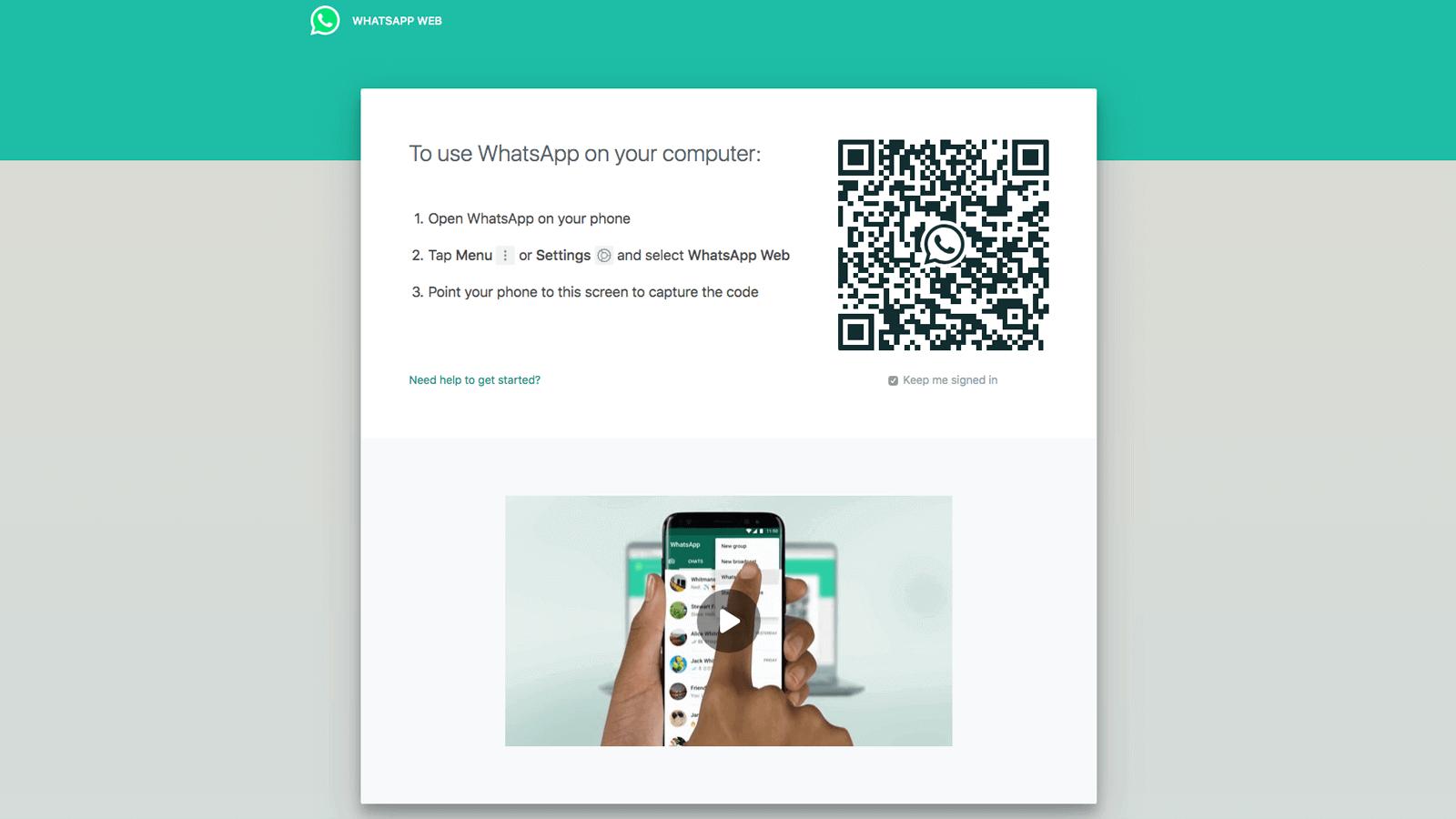 cara menggunakan whatsapp web di laptop