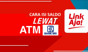cara top up linkaja di atm BRI