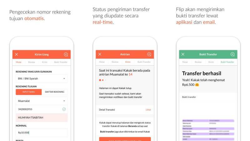 flip aplikasi transfer uang antar bank gratis