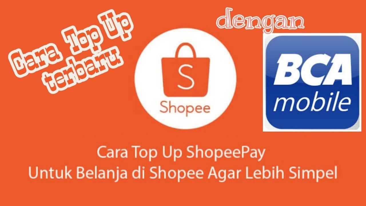 cara top up shopeepay lewat atm bca