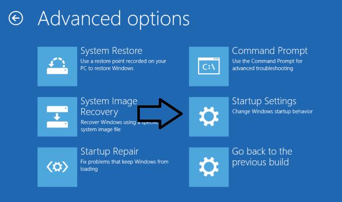 advande option windows 10
