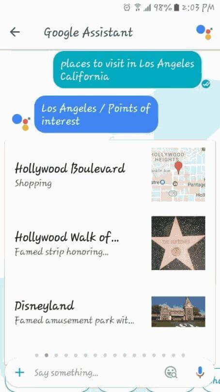 tempat menarik google assistant