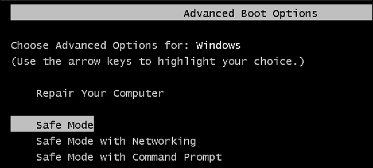 cara menjalankan windows safe mode