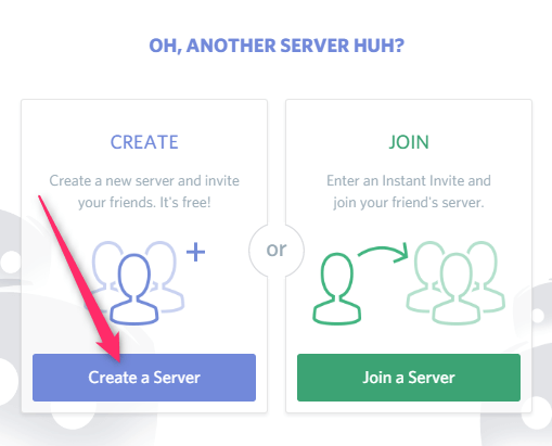 create server and join server