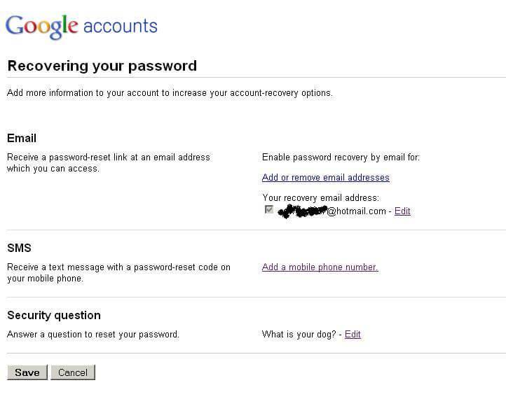 gmail passcode