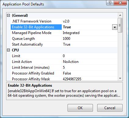 Enable 32 Bit Application