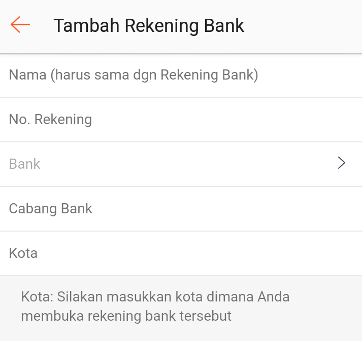 tambah rekening bank shopee