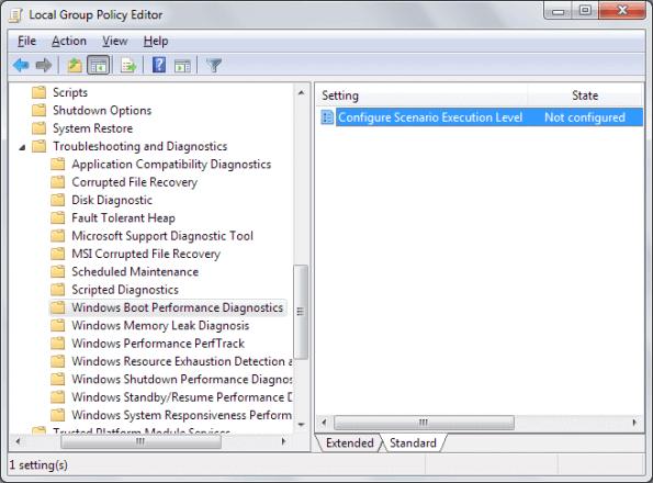 Configure Scenario Execution Level