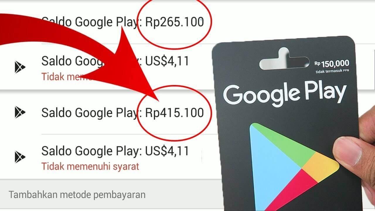 cara membeli saldo google play