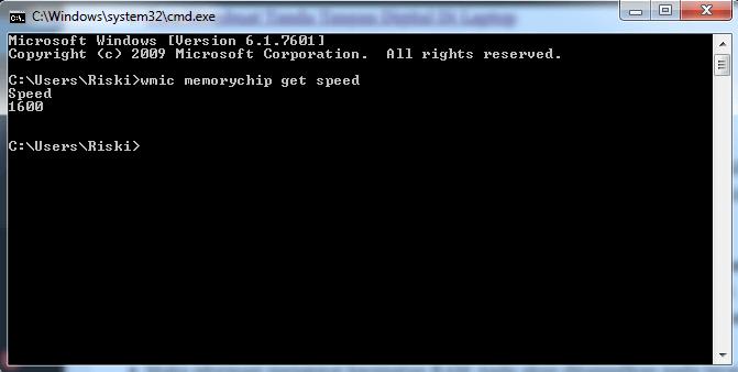 wmic memorychip get speed