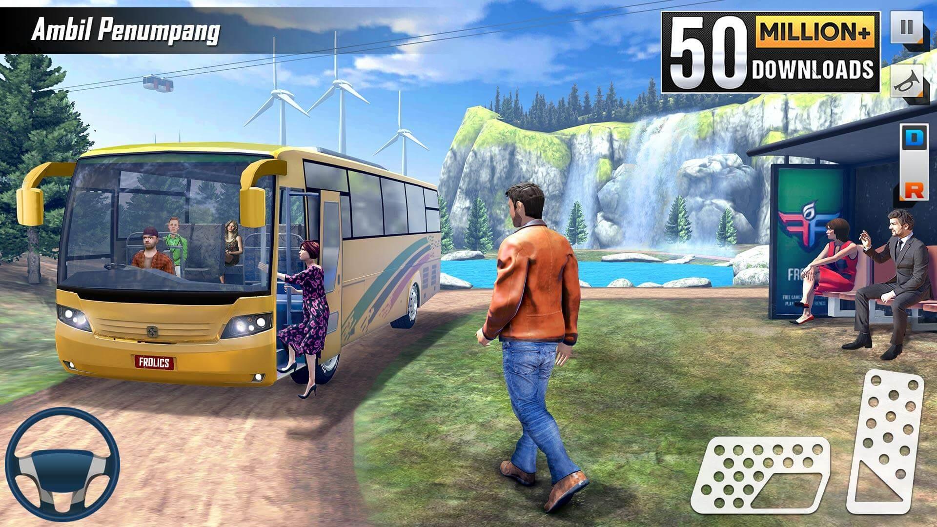 Mobil Bus Simulator Game Offline - Permainan Bus