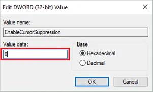 EnableCursorSuppression