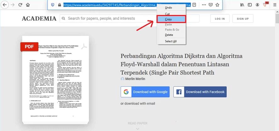 copy link academia