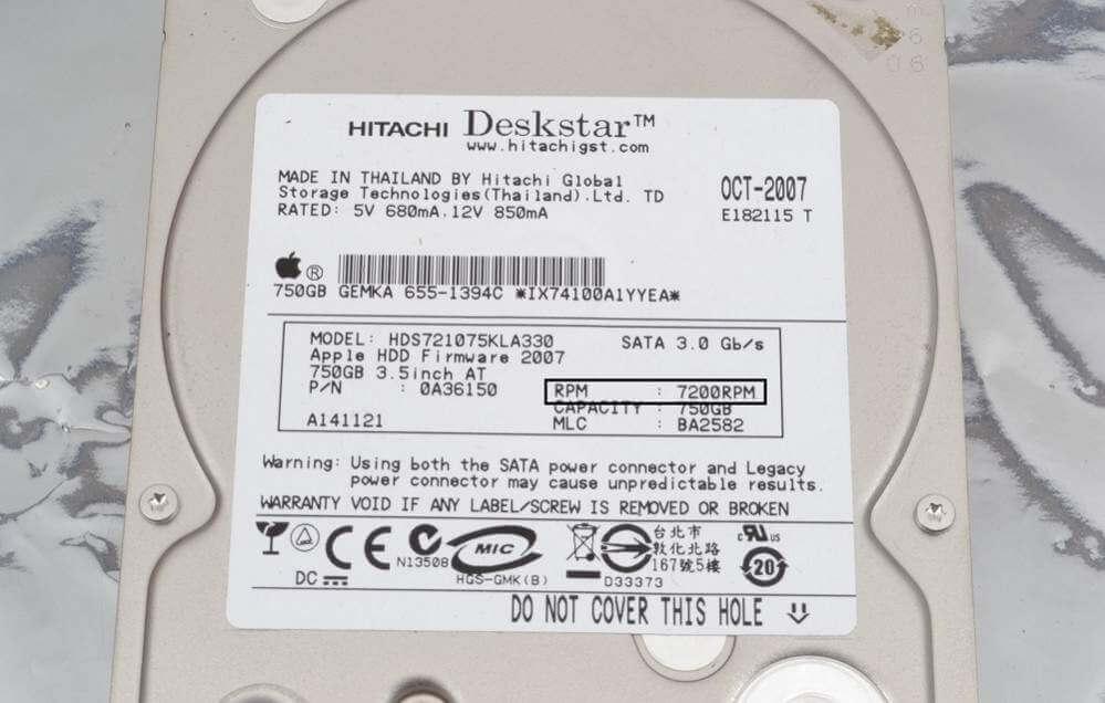 rpm hard disk