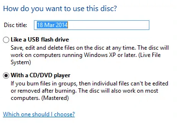 with a cd dvd